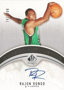 2006 07 SP Authentic Rajon Rondo RC 111 Autograph 214x300 Image