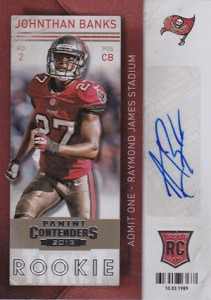 2013 Panini Contenders Football Rookie Ticket Autographs 145 Johnathan Banks Variation