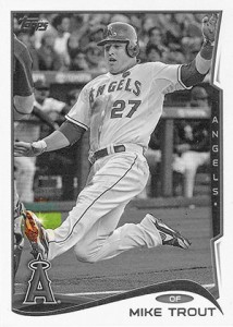 2014 Topps Series 1 Sparkle Variation Mike Trout HL 214x300 Image
