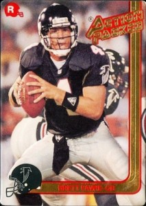 1991 Action Packed Rookie Update Brett Favre RC 21 213x300 Image