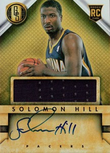 2013 14 Panini Gold Standard Rookie Autograph Jersey 243 Solomon Hill 217x300 Image