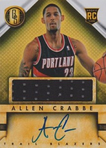2013 14 Panini Gold Standard Rookie Autograph Jersey Allen Crabbe 214x300 Image