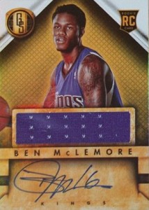 2013 14 Panini Gold Standard Rookie Autograph Jersey Ben McLemore 214x300 Image
