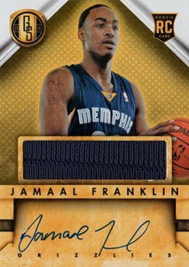 2013 14 Panini Gold Standard Rookie Autograph Jersey Jamal Franklin 213x300 Image