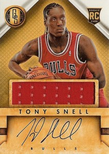 2013 14 Panini Gold Standard Rookie Autograph Jersey Tony Snell 212x300 Image