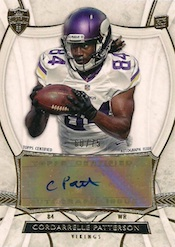 2013 Topps Supreme Football Autographed Rookies Cordarelle Patterson Image
