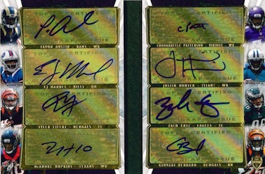 2013 Topps Supreme Football Eight Autograph Book Card Image