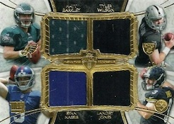 2013 Topps Supreme Football Rookie Combo Quad Relics Image