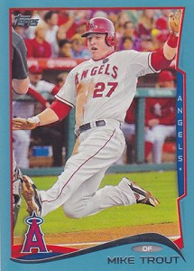 2014 Topps Series 1 Blue Mike Trout 215x300 Image