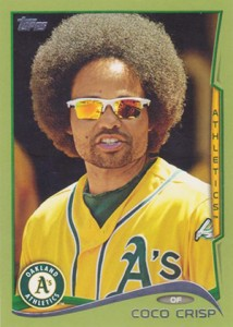 2014 Topps Series 1 Green Coco Crisp 214x300 Image