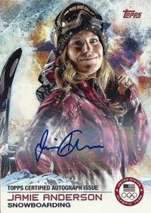 2014 Topps US Olympic Team Autographs 4 Jamie Anderson 213x300 Image