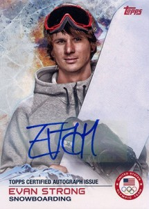 2014 Topps US Olympic Team Autographs 79 Evan Strong 215x300 Image