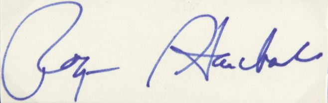 Roger Staubach Cut Signature Image
