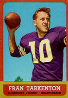 Fran Tarkenton Cards, Rookie Card and Autographed Memorabilia Guide
