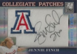 2007 Donruss Elite Collegiate Patches Jennie Finch