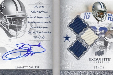 2009 Exquisite Collection Autobiography Emmitt Smith Image