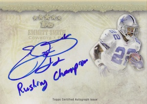 2012 Topps Five Star Quotable Signatures Emmitt Smith Image