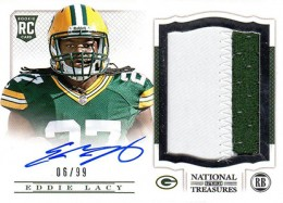 2013 Panini National Treasures Rookie Patch Autograph 208 Eddie Lacy 260x187 Image