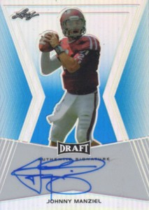 2014 Leaf Metal Draft Blue Prismatic Johnny Manziel Autograph