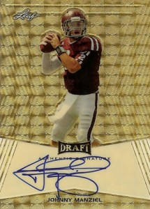 2014 Leaf Metal Draft Gold Prismatic Johnny Manziel Autograph
