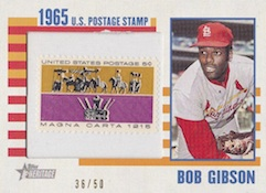 2014 Topps Heritage Baseball 1965 Postage Stamp Relics