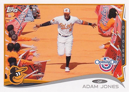 2014 Topps Opening Day Baseball Variations 103 Adam Jones