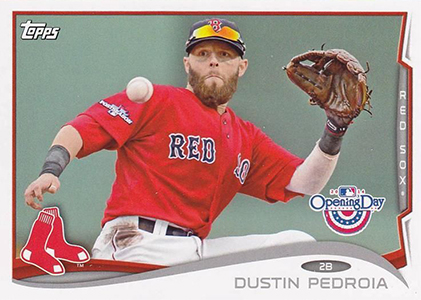 2014 Topps Opening Day Baseball Variations 2 Dustin Pedroia