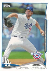 2014 Topps Opening Day Clayton Kershaw
