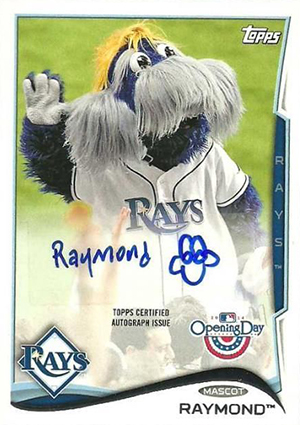 2014 Topps Opening Day Mascot Autographs Image