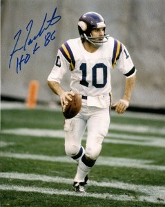 Fran Tarkenton Signed Photo 239x300 Image