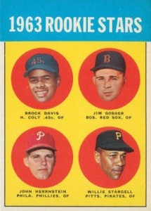 1963 Topps Willie Stargell RC