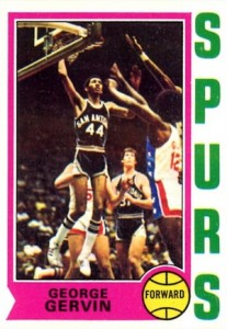 1974-75 Topps George Gervin RC