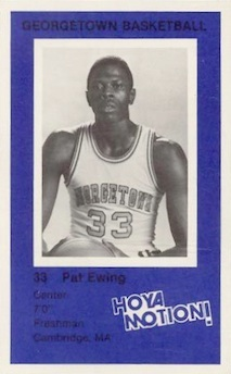 1981-82 Georgetown Hoyals DC Police Patrick Ewing #4