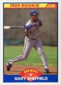 1989 Score Gary Sheffield RC