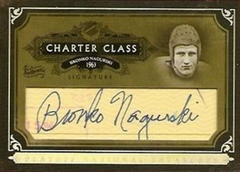 200 National Treasures Bronko Nagurski Cut Signature