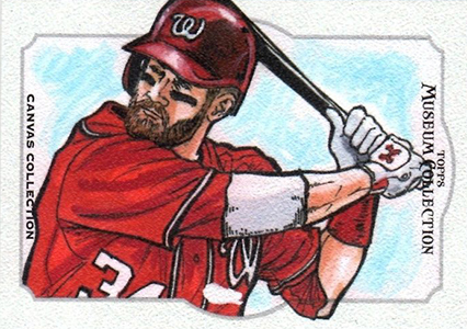 2014 Topps Musuem Collection Baseball Canvas Collection CCR 14 Bryce Harper Image