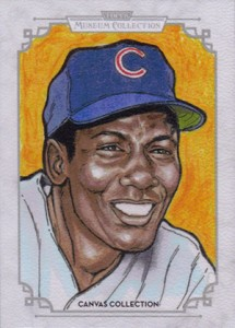 2014 Topps Musuem Collection Baseball Canvas Collection CCR 20 Ernie Banks 215x300 Image