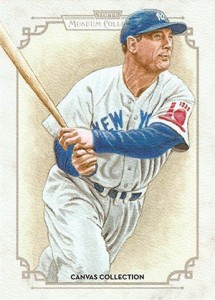 2014 Topps Musuem Collection Baseball Canvas Collection CCR 43 Lou Gehrig 215x300 Image
