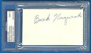 Bronko Nagurski Signed Index Card