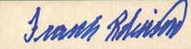 Frank Robinson Signature Example