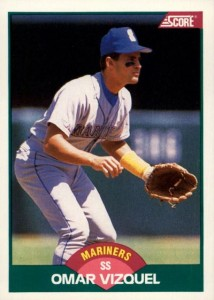 1989 Score Rookie and Traded Omar Vizquel RC 214x300 Image