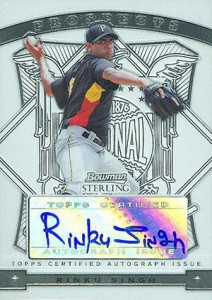 2009 Bowman Sterling Prospect Autographs Rinku Singh 212x300 Image