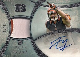 2013 Topps Five Star Rookie Autographed Patch 118 Tyler Eifert 260x184 Image