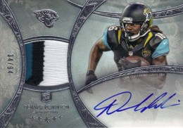 2013 Topps Five Star Rookie Autographed Patch 135 Denard Robinson 260x182 Image