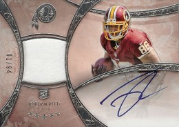 2013 Topps Five Star Rookie Autographed Patch 139 Jordan Reed 260x184 Image