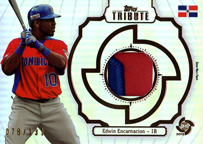 2013 Topps Tribute WBC Prime Patches Edwin Encarnacion b