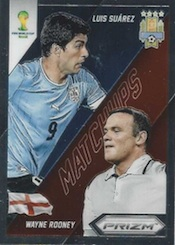 2014 Panini Prizm World Cup Soccer Matchups Rooney Suarez