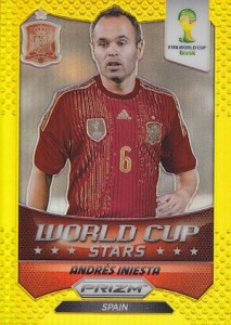 2014 Panini Prizm World Cup Stars Gold Andres Iniesta