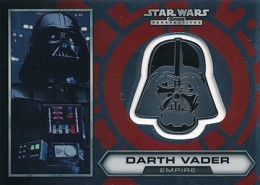 2014 Topps Star Wars Chrome Perspectives Helmet Medallions 1 Darth Vader 260x185 Image