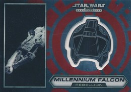 2014 Topps Star Wars Chrome Perspectives Helmet Medallions 12 Millennium Falcon 260x182 Image